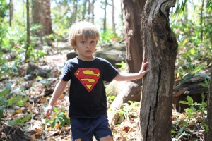 Superman can truly express his powers in wide open space:)