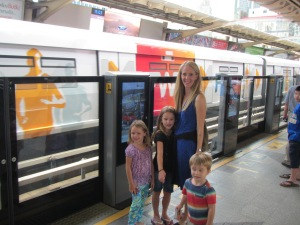 Taking the subway in Thailand to where the locals shop!