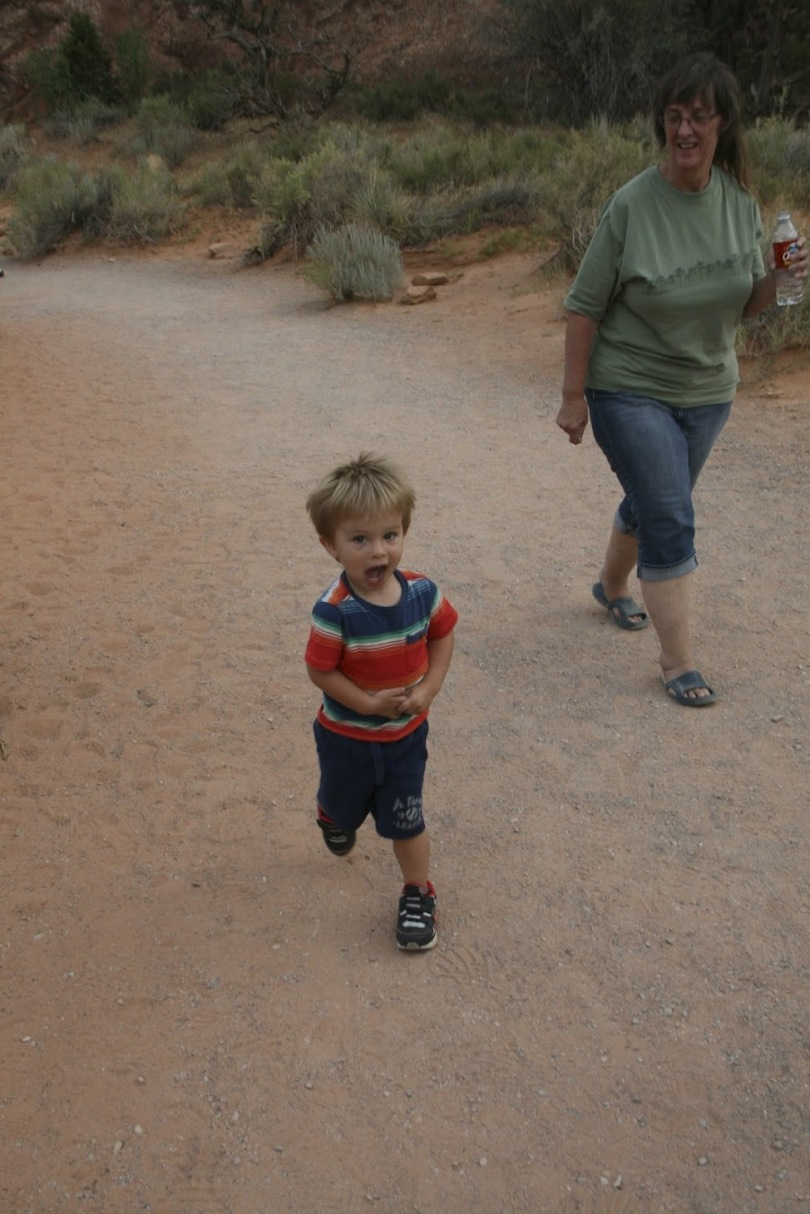 Hiking at Arches with grandma